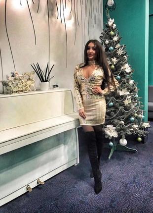 Шикарное платье asos паетки,бисер