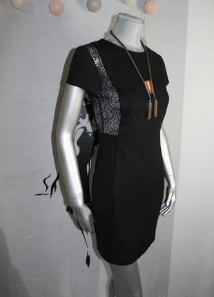 Плотное черное платье zara