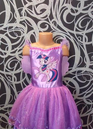 Новогоднее платье пони твайлайт,феи,7-8л,крылья