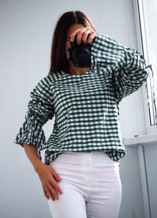 Рубашка,котон на шнуровке размер: s