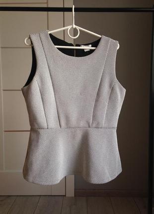 Блуза с баской из фактурного трикотажа/ брэндовые вещи - доступные цены!!!