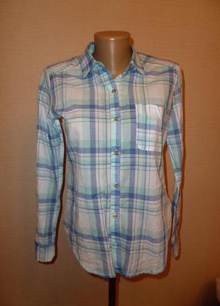 Тонкая хлопчатая рубашка hollister , р xs