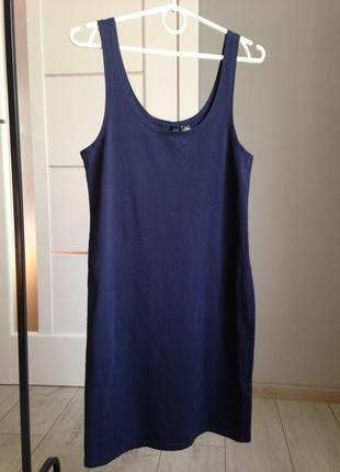 Базовое трикотажное платье миди/ h&m| брэндовые вещи - доступные цены!!!