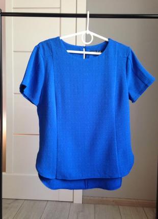 Яркая фактурная блуза цвета электрик/ брэндовые вещи - доступные цены!!!
