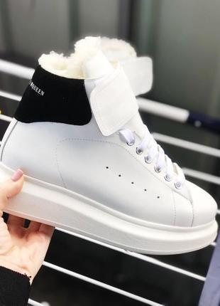 Шикарные ботиночки ,кросы на меху, натуральная кожа..36-41