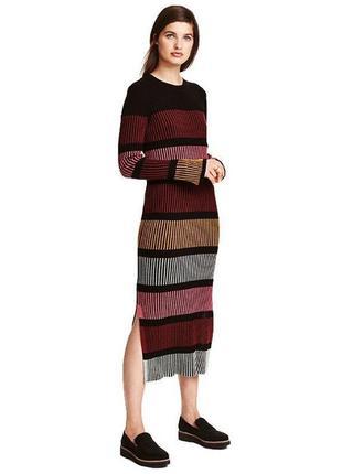 Платье h&m в рубчик полоску размер м.