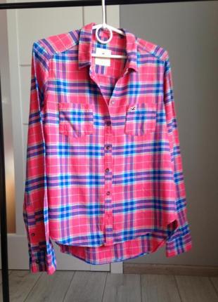 Теплая рубашка в клетку/100% котон/ брэндовые вещи - доступные цены!!!
