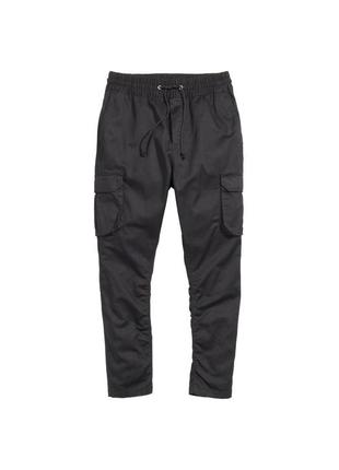 Штани карго чорні джогери, брюки джоггер с карманами h&m, розм. 30