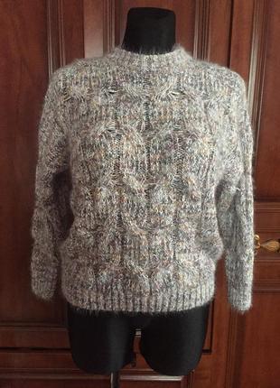 Свитер пуловер мохеровый