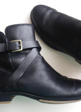Кожаные ботинки ecco 40р 26см
