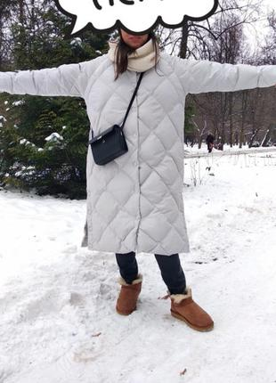 Пуховик одеяло кокон куртка теплая зимняя зима