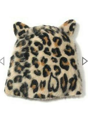 Ангоровая шапка кошка