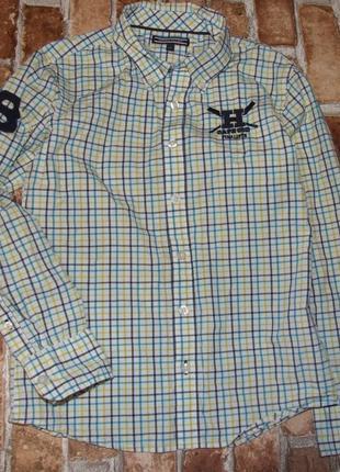 Коттон рубашка 10 лет tommy hilfiger
