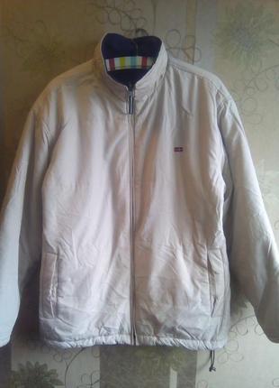 Курточка весна-осень двусторонняя флисовая с утяжкой внизу