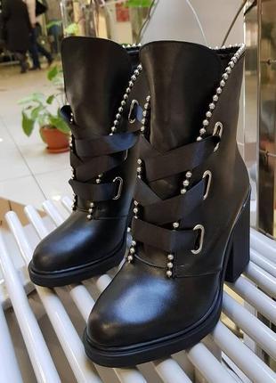 Ботинки зима, женские сапоги, натуральная кожа