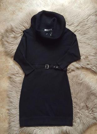 Черное шерстяное платье karen millen,короткое черное платье,приталенное зимнее платье