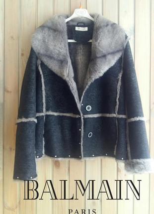 Balmain  короткая дубленка/пальто люксового бренда хл