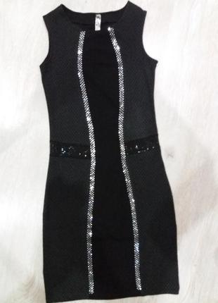 Шикарное платье wagoon 44-46 в отличном состоянии в стразах