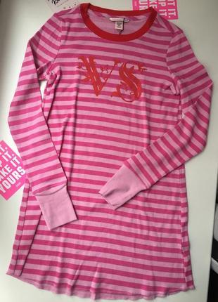 Хлопковая ночнушка, пижама с длинным рукавом victoria's secret, оригинал
