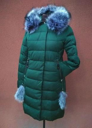 Длинная зимняя куртка больших размеров