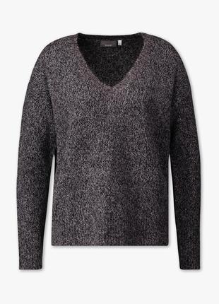 Пуловер свитер с v- образным вырезом шерсть оверсайз s m l