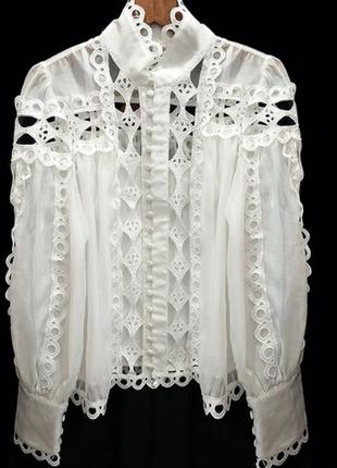 Шикарна блуза кружевная есть размеры и цвета