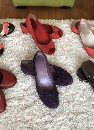 Набор из шести пар обуви 36 размер, натуральная кожа