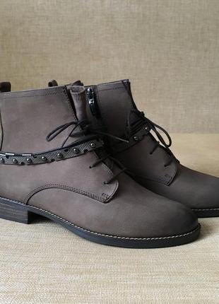 Новые утеплённые кожаные ботинки, сапоги tamaris, 39 р.