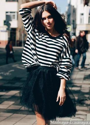 Модная юбка пачка евросетка