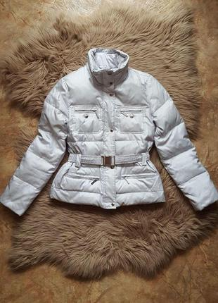 Куртка пуховик michael kors,теплый зимний пуховик серого цвета,дутая куртка серого цвета