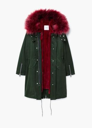 Крутая парка куртка зима mango новая!!