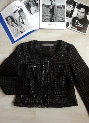 Жакет  zara / пиджак с серебром zara