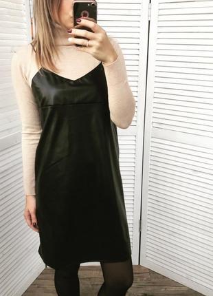 Сарафан ромпер платье кожзам екокожа