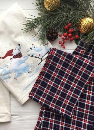 Новогодняя пижама из плотного хлопка ellen