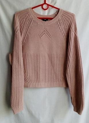 Укороченный свитер цвета пудры h&m