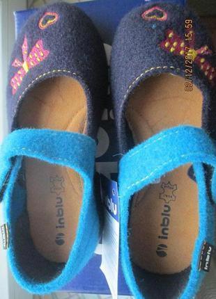 Тапки детские, тапочки, домашняя обувь. inblu2
