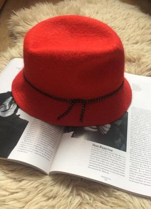100% шерсть  фетр  трендовая шляпа осень-зима