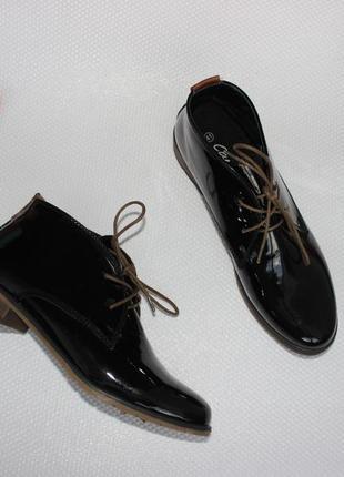 41 26,5см carina лакированные дезерты, туфли на шнуровке
