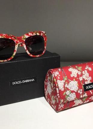 Очки красные в цветы dolce&gabbana