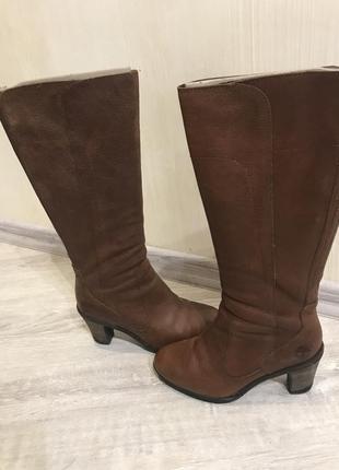Сапоги ботинки натуральная кожа коричневые timberland