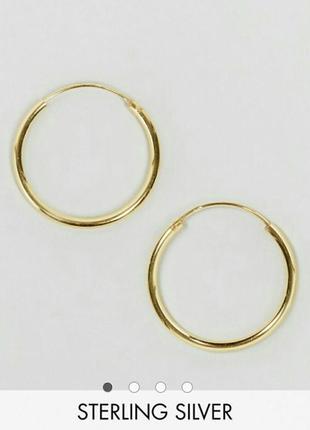 Серьги кольца золотые asos