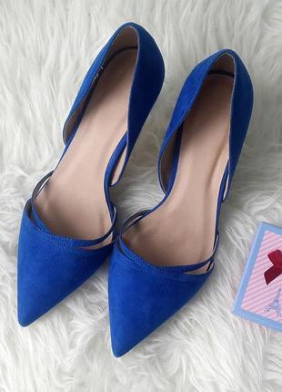 Туфли лодочки на каблуке asos, замшевые туфли на каблуке синего цвета asos