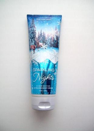 Крем для тела bath and body works ultra shea body cream sparkling nights