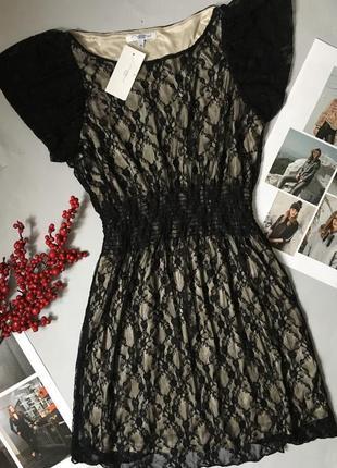 Платье с гипюром с биркой