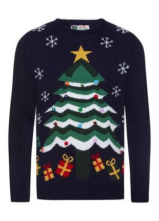 Крутой музыкальный новогодний рождественский свитер с елкой и бубенчиками (с музыкой)