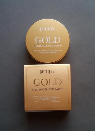 Гидрогелевые патчи для век с 24-каратным золотом  petitfee gold hydrogel eye patch