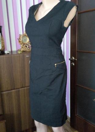 Платье сарафан миди футляр черное офисное 48 50 размер скидка топ лук скидка sale