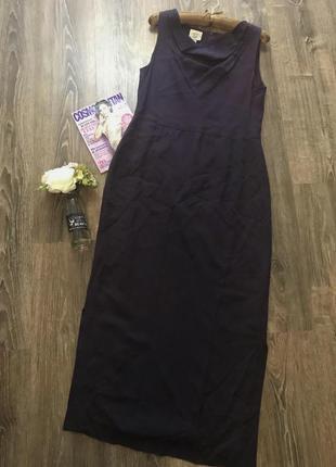 Шёлков платье- темная лаванда