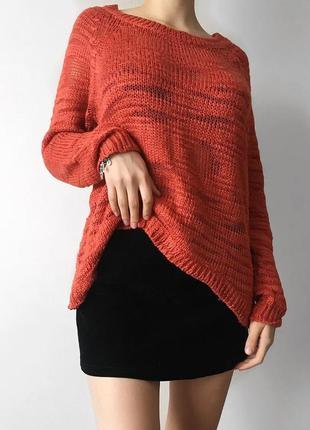 Шерстяной свитер удлиненный