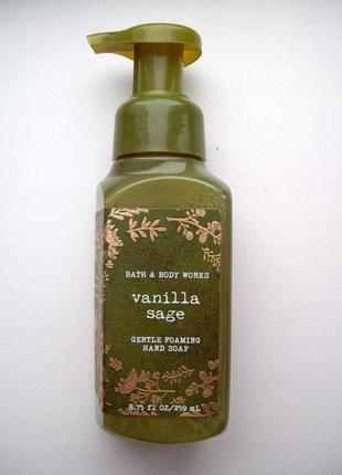 Нежнейшее мыло пенка для рук bath & body works gentle foaming hand soap vanilla sage